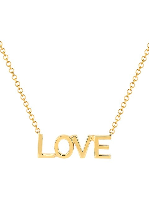 14K Yellow Gold Love Mini Pendant Necklace