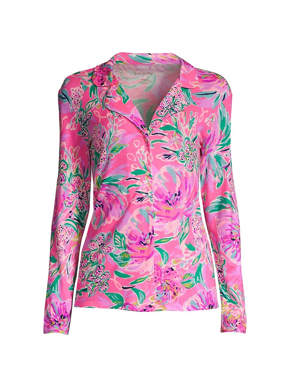 Lilly Pulitzer WOMEN'S FLORAL-PRINT KNIT PAJAMA TOP