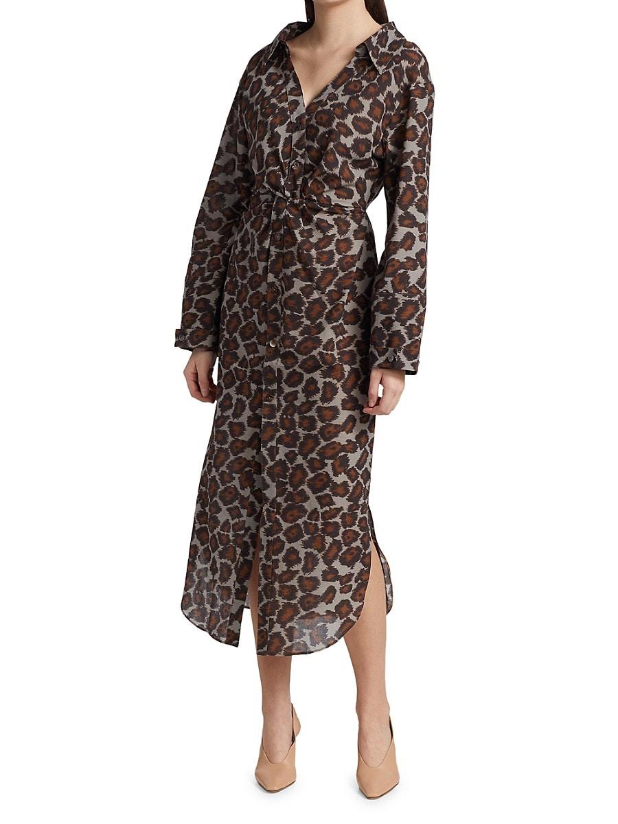 NANUSHKA Dresses WOMEN'S AYSE BUTTON DOWN MIDI DRESS