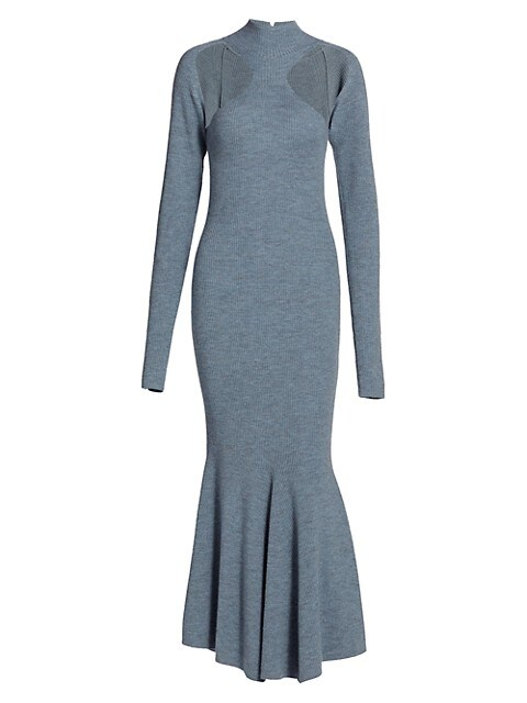 Anaira Melange Wool Knit Dress