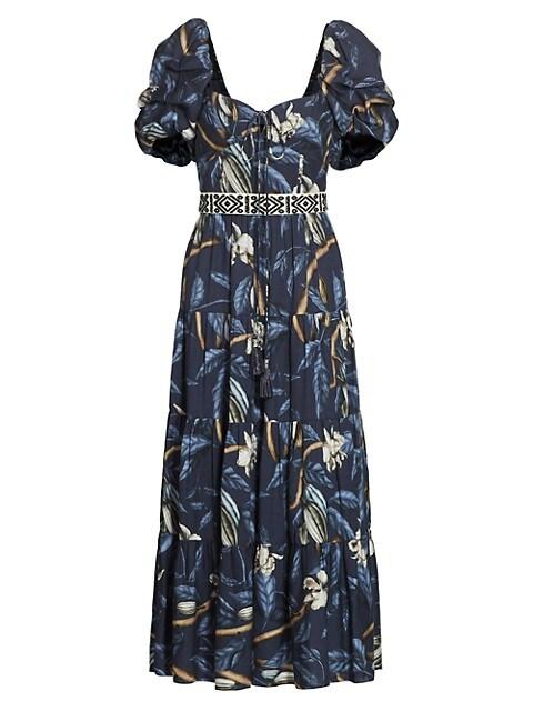 Botanical Heritage Tiered Midi Dress