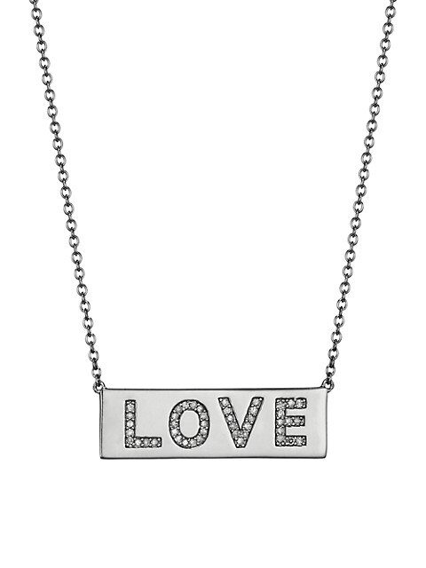 Love Diamond & Sterling Silver Pendant