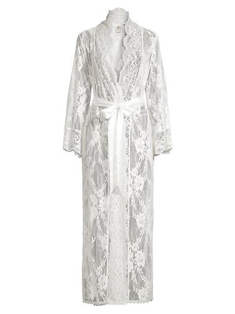 Collette Lace Longline Robe