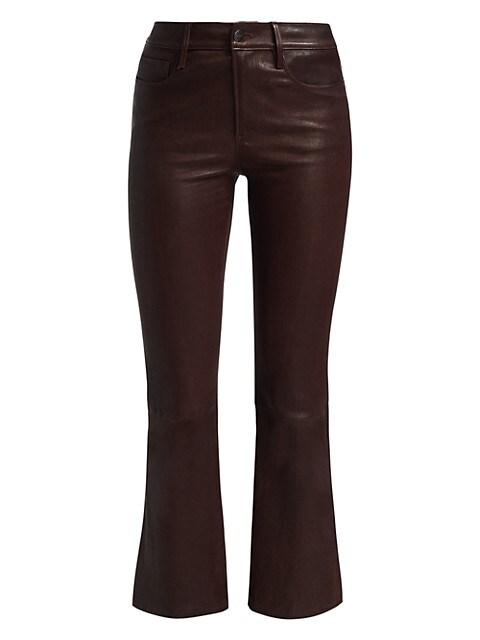 Le Crop Leather Bootcut Pants