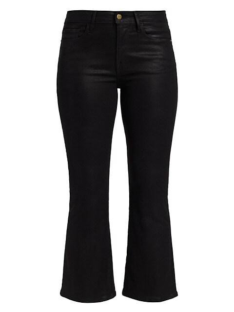 Le Cropped Coated Mini Bootcut Jeans