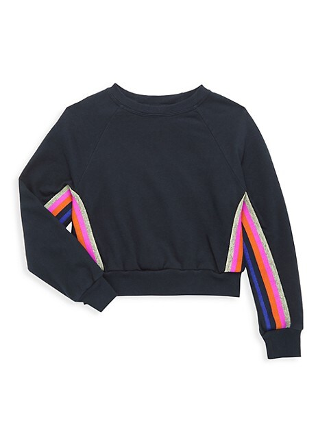 Girl's Sunset Cropped Pullover Sweater