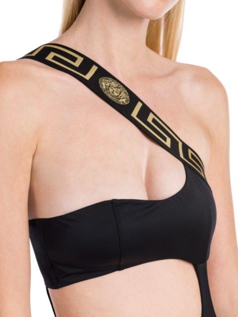 Versace Greca Cutout Swimsuit | SaksFifthAvenue
