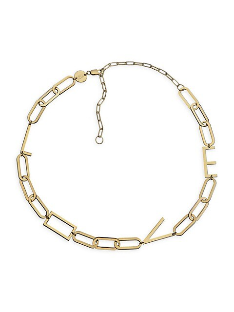 Rissa 14K Goldplated Love Charm Necklace