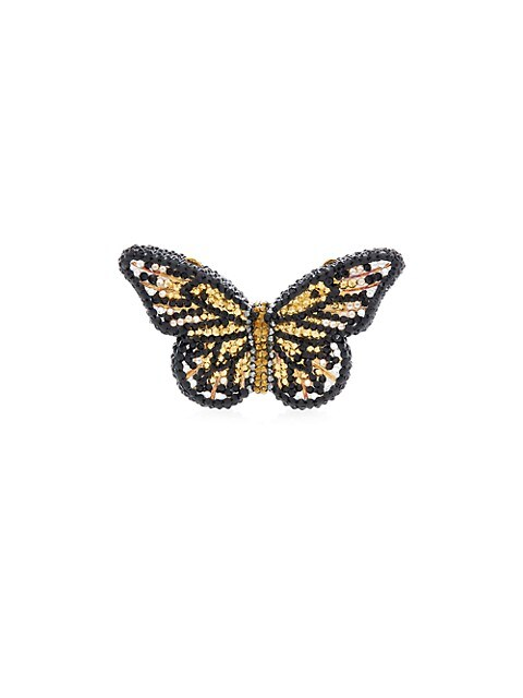 Butterfly Monarch Crystal Pillbox