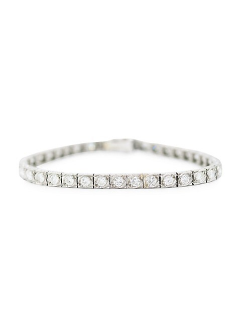 Art Deco Platinum & Diamond Line Bracelet