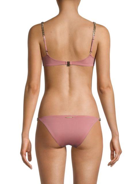 Stella McCartney Falabella Chain Strap Bikini Top | SaksFifthAvenue