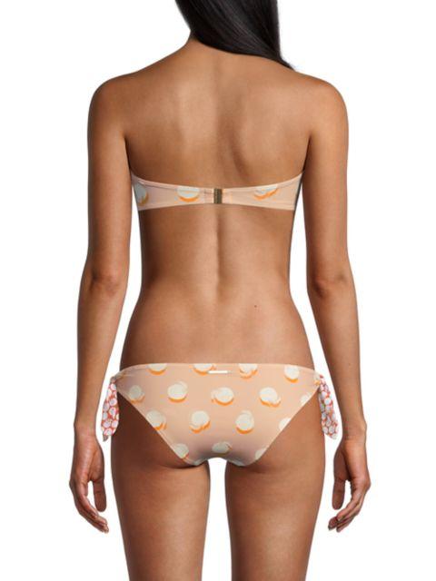 Stella McCartney Ruched Oranges Strapless Bikini Top   SaksFifthAvenue