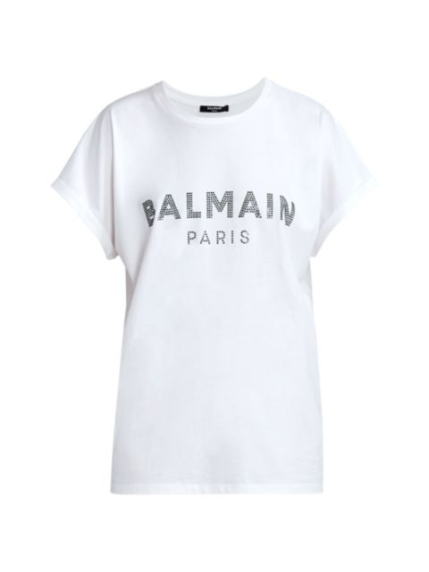 Balmain Strass Logo T-Shirt | SaksFifthAvenue