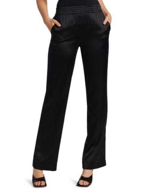 Helmut Lang Silk Blend Pants | SaksFifthAvenue