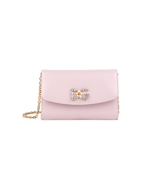 Mini Crystal Logo Crossbody Bag