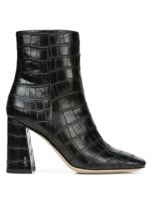 Sam Edelman Chunky heels Codie Croc-Embossed Ankle Boots