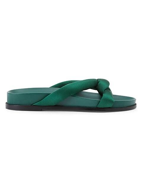 Honore Padded Satin Slides