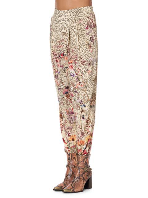 Camilla Floral Leopard Silk Pants   SaksFifthAvenue