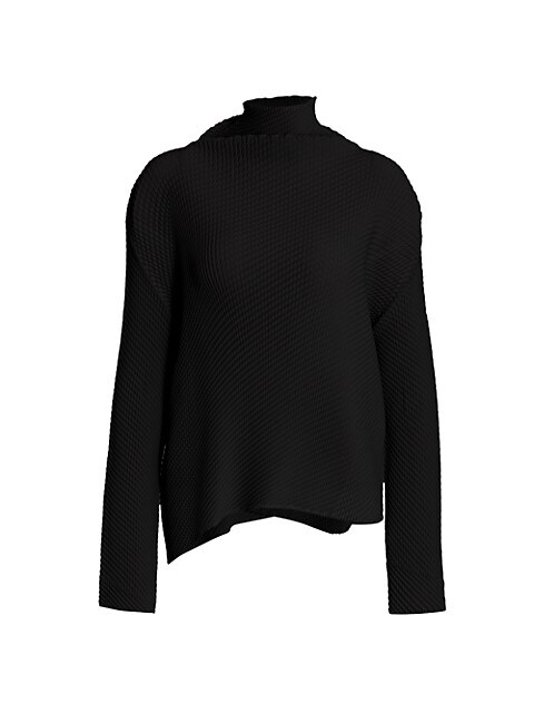 Misty Pleats Turtleneck Top