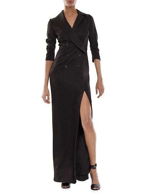 Kate Three-Quarter Sleeve Tuxedo Gown