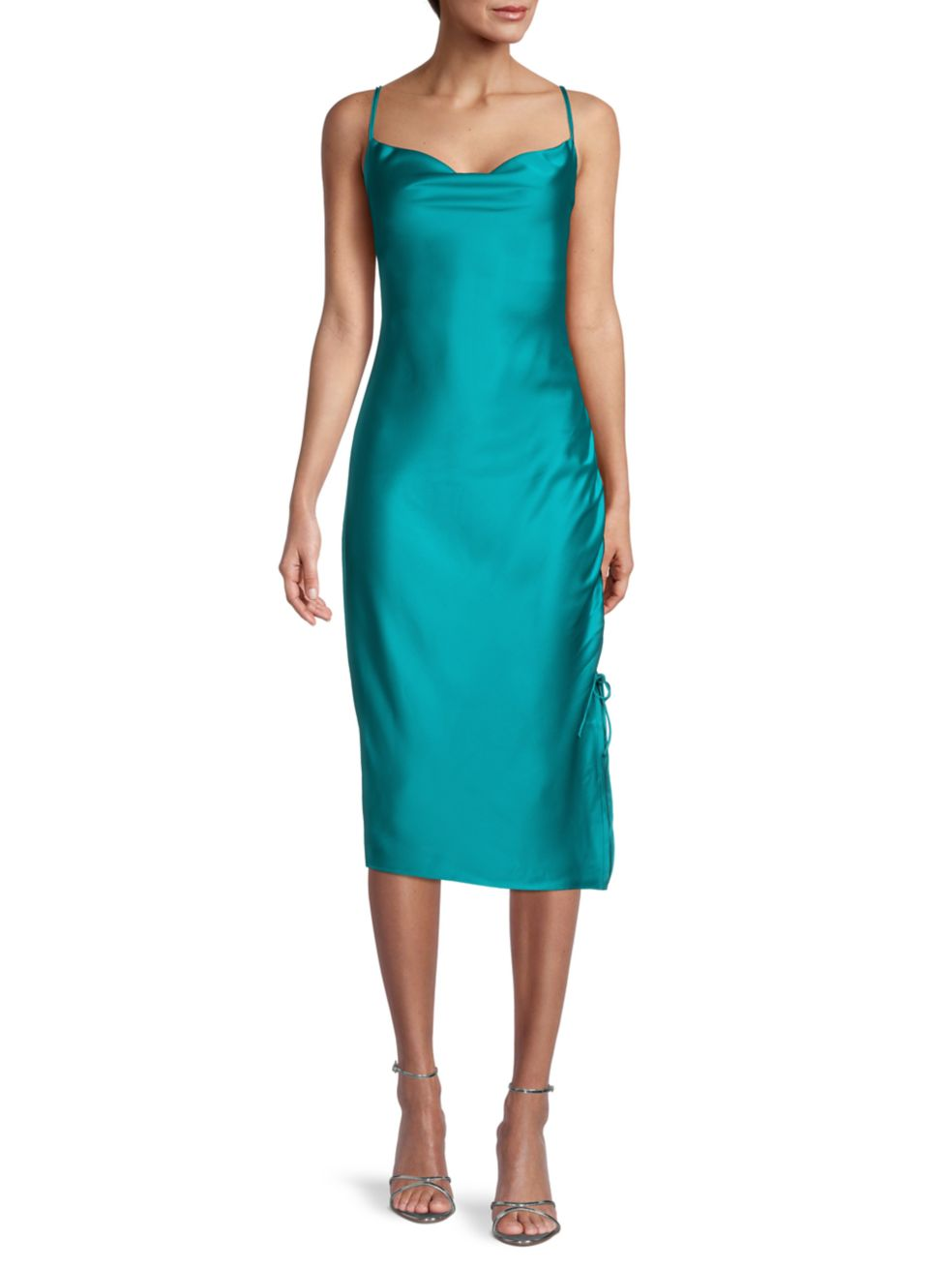 Parker Perla Cowl Neck Satin Dress | SaksFifthAvenue