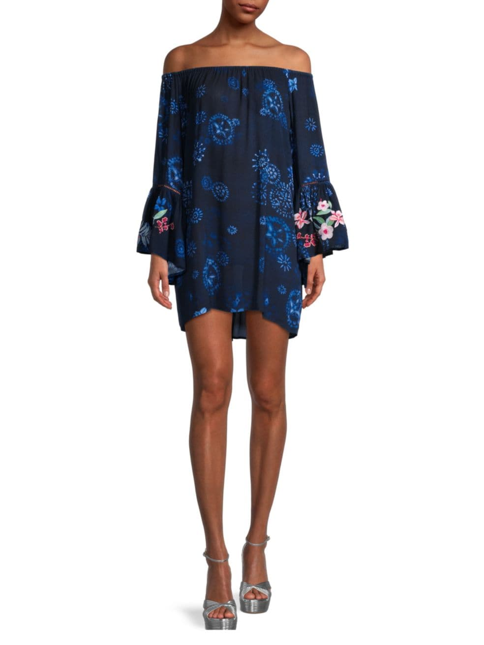 Johnny Was Annia Off-The-Shoulder Bell-Sleeve Dress | SaksFifthAvenue