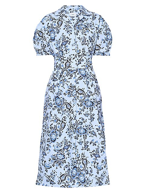 Belted Short Sleeve Midi Shirtdress