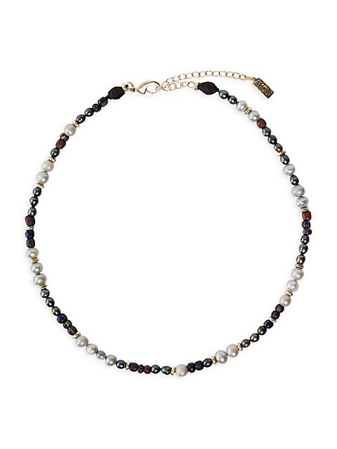Yuzu Baroque Pearl & Mixed Glass Beaded Necklace