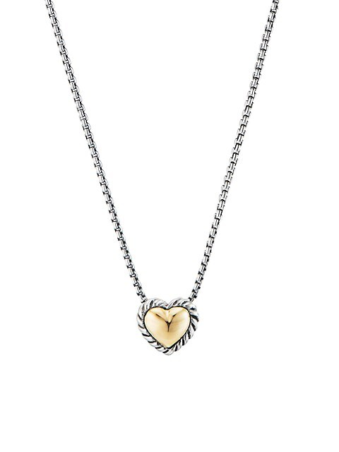 Cable Collectibles Cable Cookie Classic Heart Necklace With 18K Yellow Gold