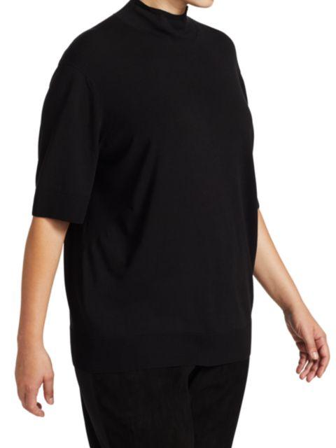 Lafayette 148 New York, Plus Size Mockneck Three-Quarter Sleeve Sweater   SaksFifthAvenue