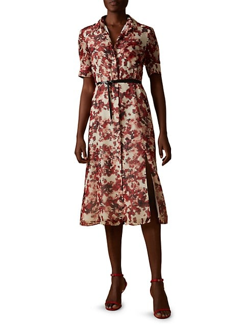 Kieran Short-Sleeve Floral Shirtdress