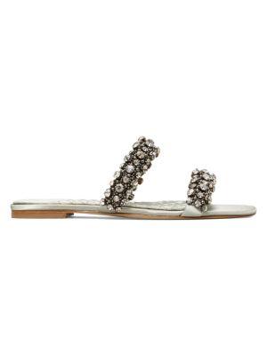 Tory Burch Crystal-Embellished Slide Sandals