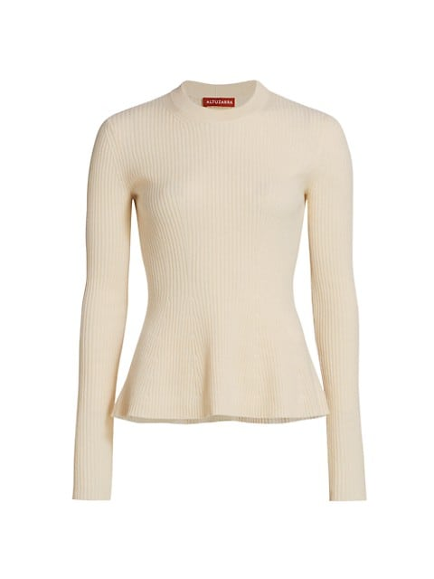 Frankie Cashmere Ribbed Flare Sweater