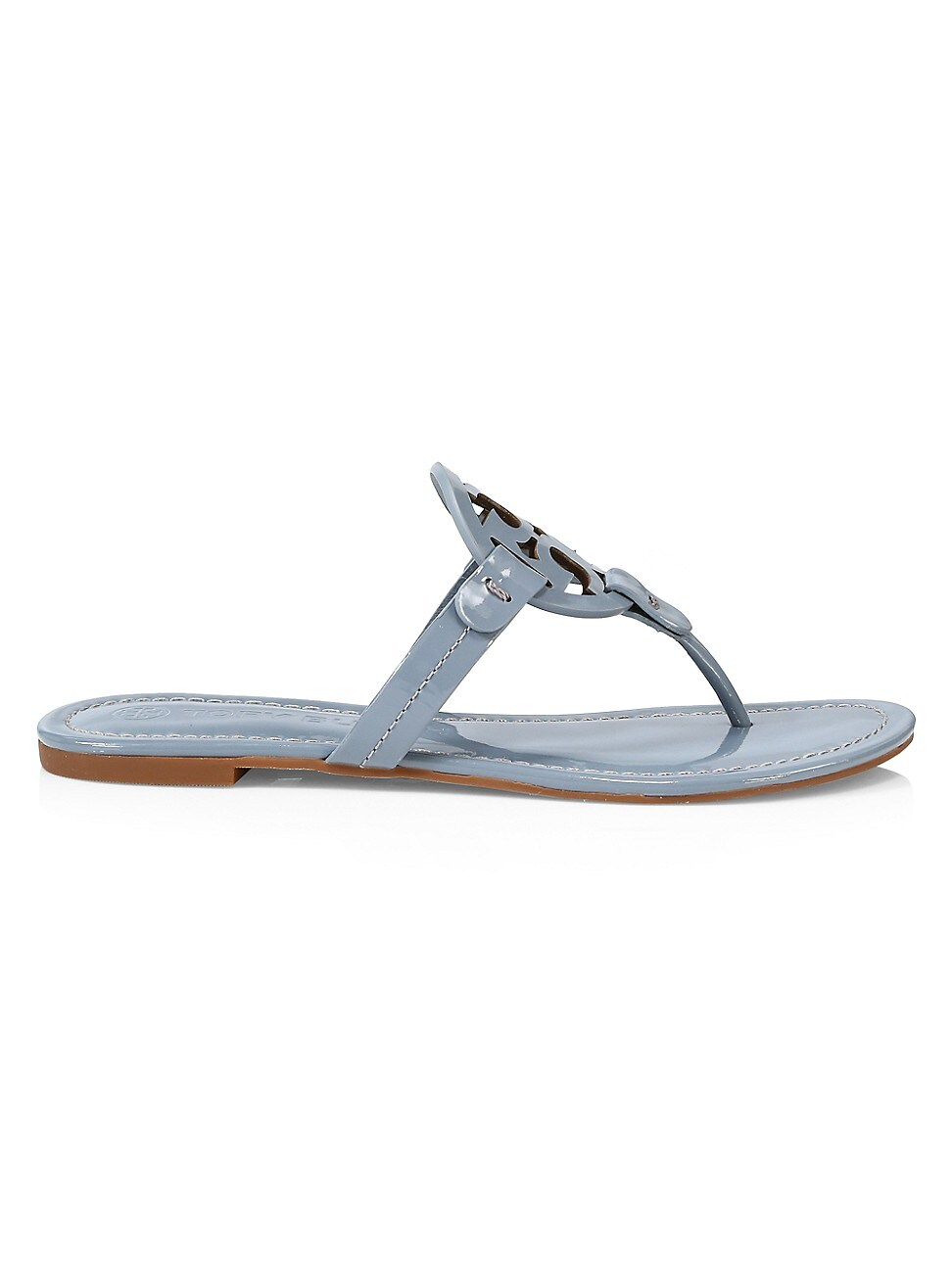 Tory Burch Leathers WOMEN'S MILLER PATENT LEATHER THONG SANDALS