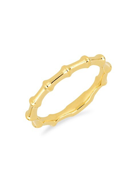 14K Yellow Gold Impala Horn Ring