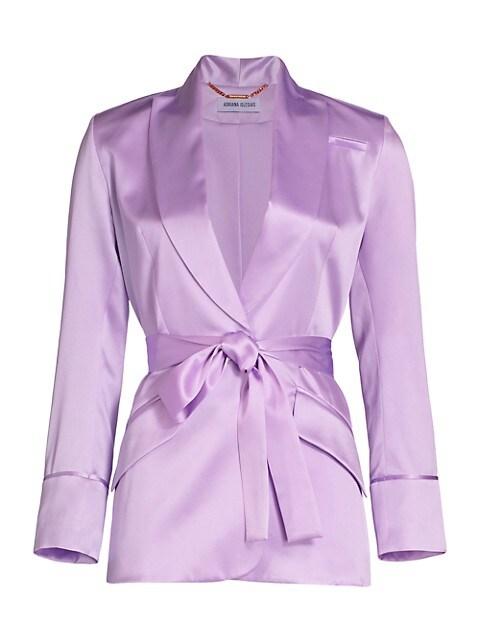 Iba Silk Belted Blazer Jacket