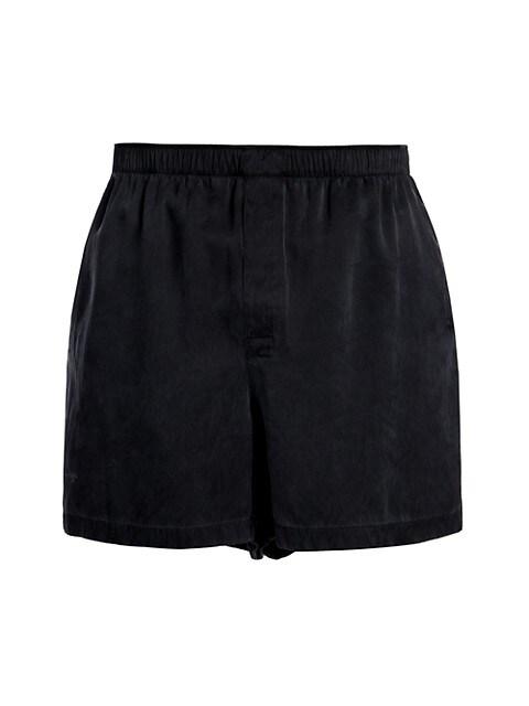 Heavy Fluid Silk Twill Shorts