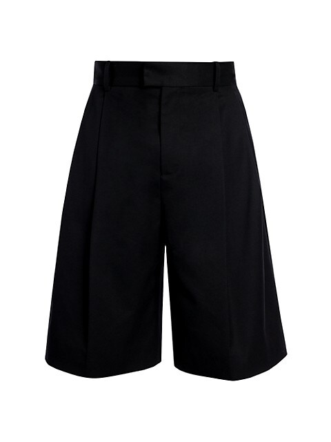 Pleated Heavy Twill Short Pants