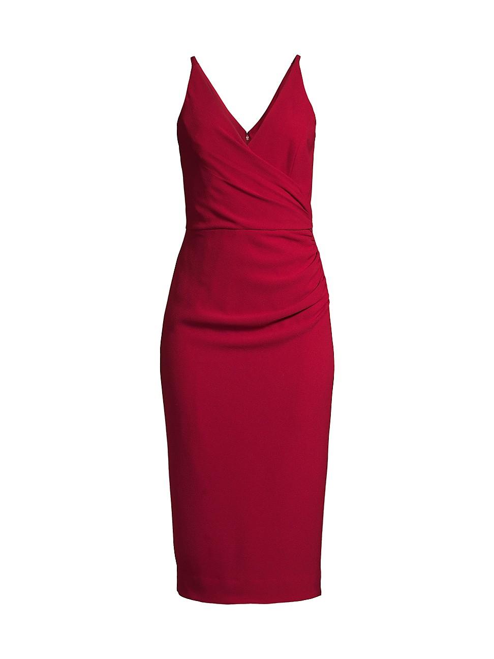 Dress The Population WOMEN'S ANITA GATHERED SHEATH DRESS