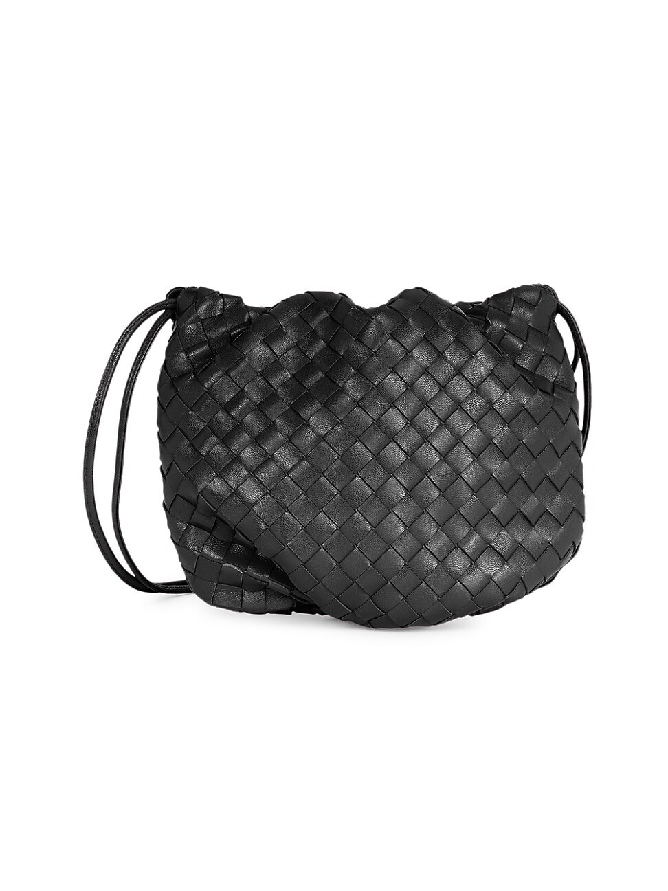 Bottega Veneta Women's Mini Bulb Leather Clutch In Black