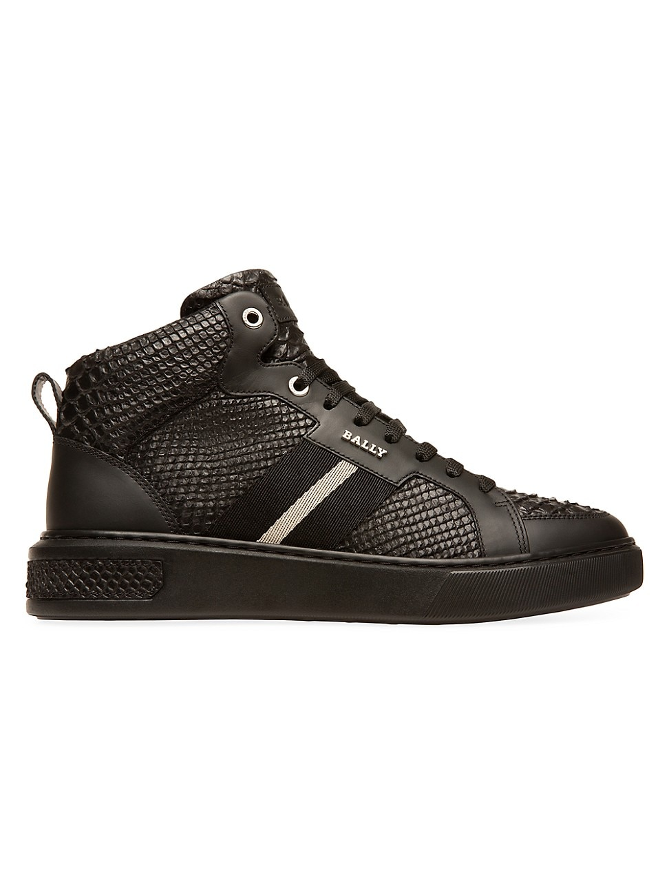 Bally MEN'S MEN'S SNAKE-EMBOSSED HIGH-TOP LEATHER SNEAKERS