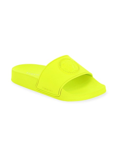 Little Kid's and Kid's Missing English Localizza Embossed Slide Sandals