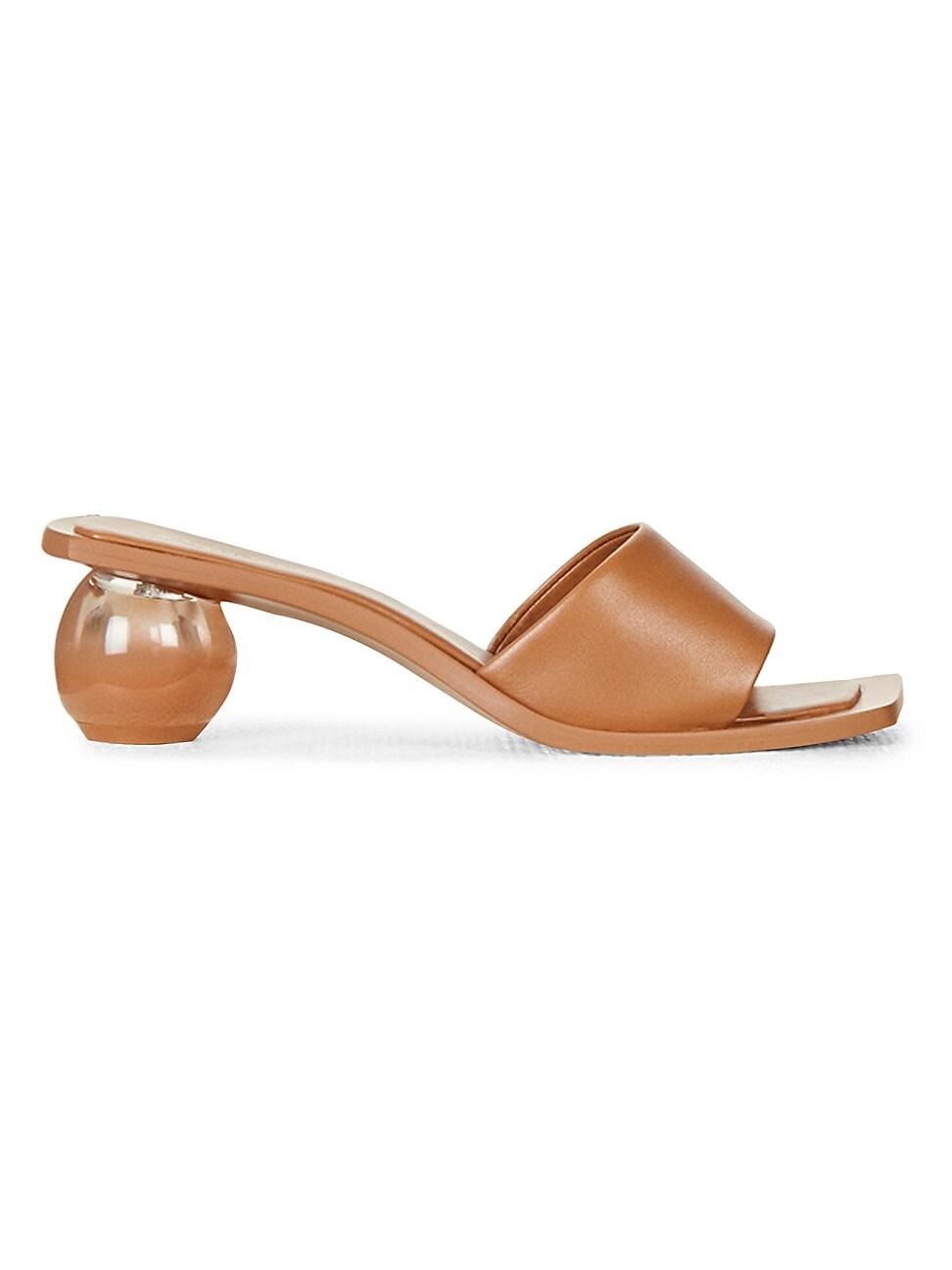 Cult Gaia Low heels WOMEN'S TAO OMBRÉ BAUBLE-HEEL LEATHER MULES