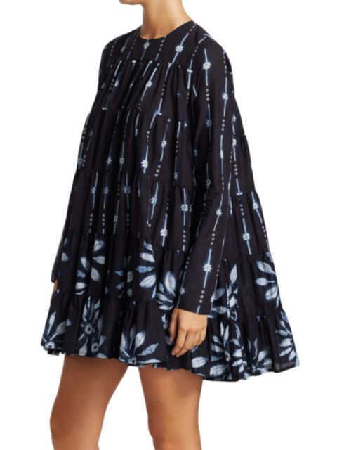 Merlette Soliman Shibori Trapeze Dress   SaksFifthAvenue