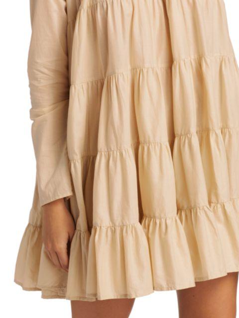 Merlette Soliman Tiered Trapeze Dress | SaksFifthAvenue
