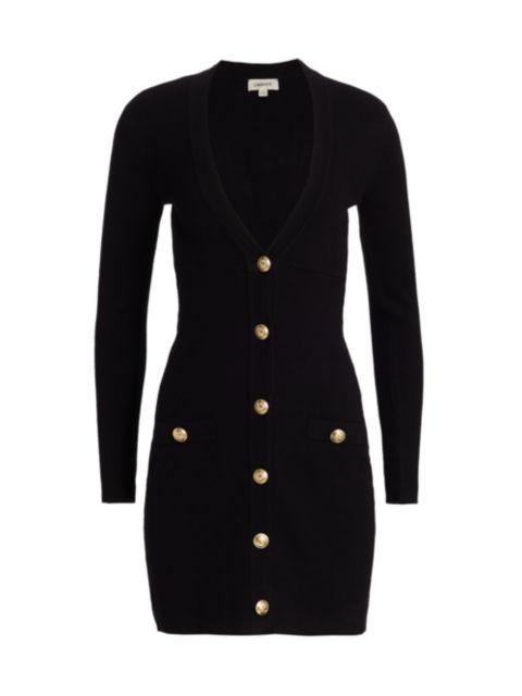 L'Agence Breanna V-Neck Mini Dress | SaksFifthAvenue