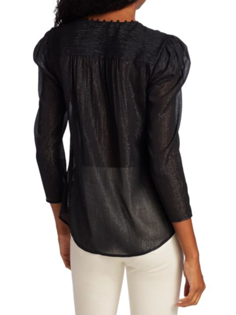 L'Agence Kimberly Puffy Sleeve Blouse   SaksFifthAvenue