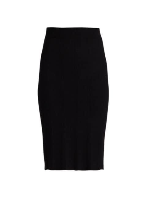 L'Agence Jessica Knit Midi Skirt   SaksFifthAvenue