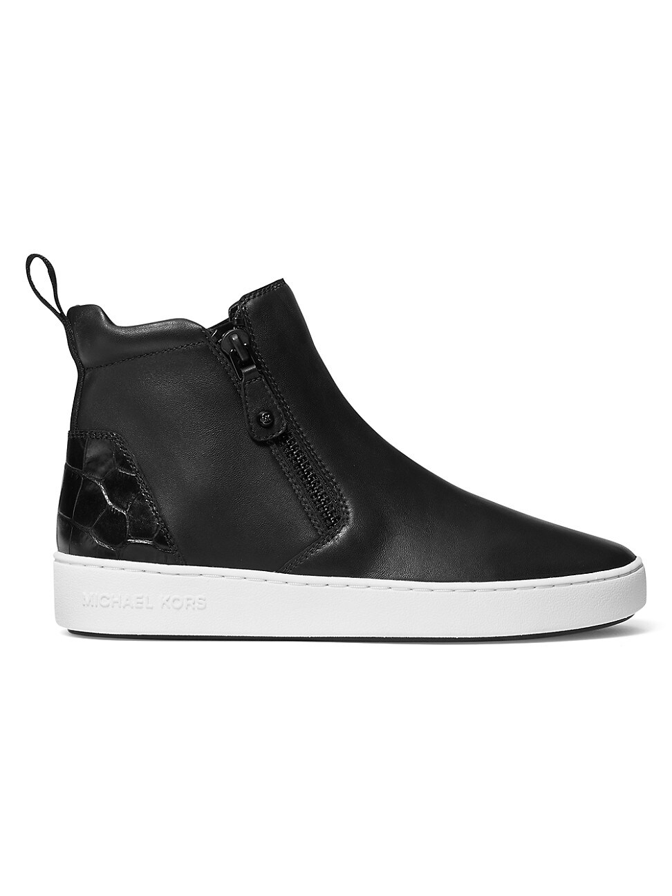 Michael Michael Kors WOMEN'S CLAY HIGH-TOP LEATHER SNEAKERS