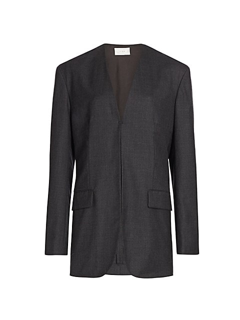 Fie Collarless Wool Jacket